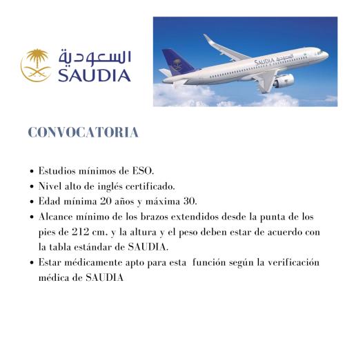 La aerolínea nacional de Arabia Saudita, Saudia busca azafatas de vuelo s