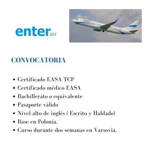 EnterAir está buscando actualmente tcps para su base en Polonia.