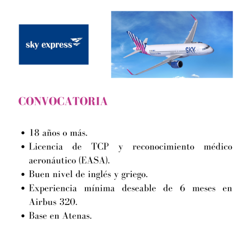Sky Express busca TCP's