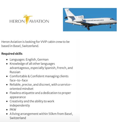 Heron Aviation busca TCP
