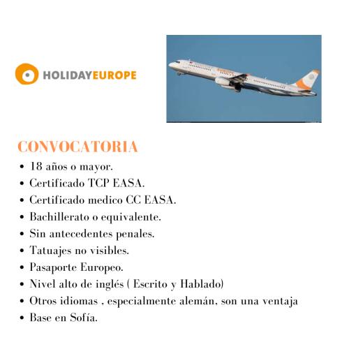 La aerolínea Holiday Europe bucsa TCP's para su base en Sofía