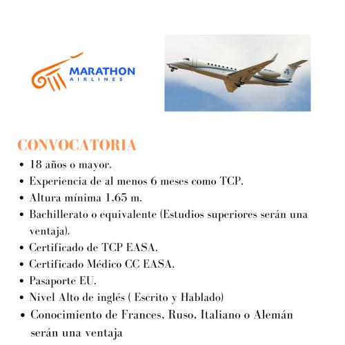 La aerolínea Marathon busca actualmente TCPs para su base en Grecia.