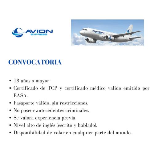 Avion Express busca Tripulantes de cabina