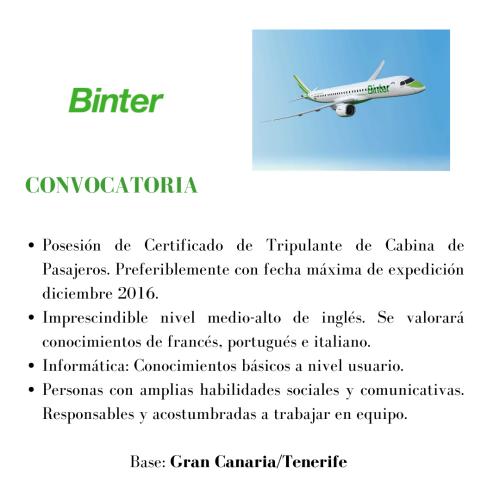 Binter busca TCPS