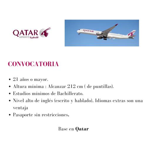 Qatar Airways  busca azafatas y azafatos de vuelo