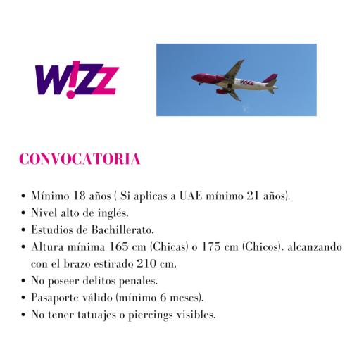 Wizz Air busca tripulantes de cabina